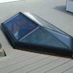 Skylight glass service